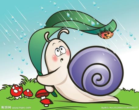 不过我们还会在早晨的时候看到蜗牛们晚上赛跑时留下的脚印…… 青蛙
