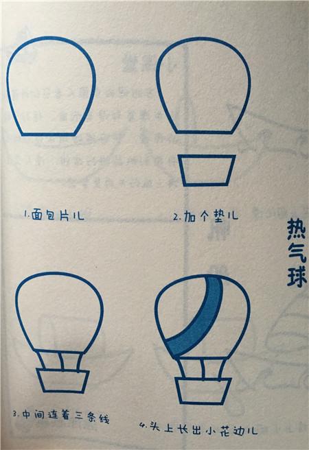 幼儿园中班图画热气球
