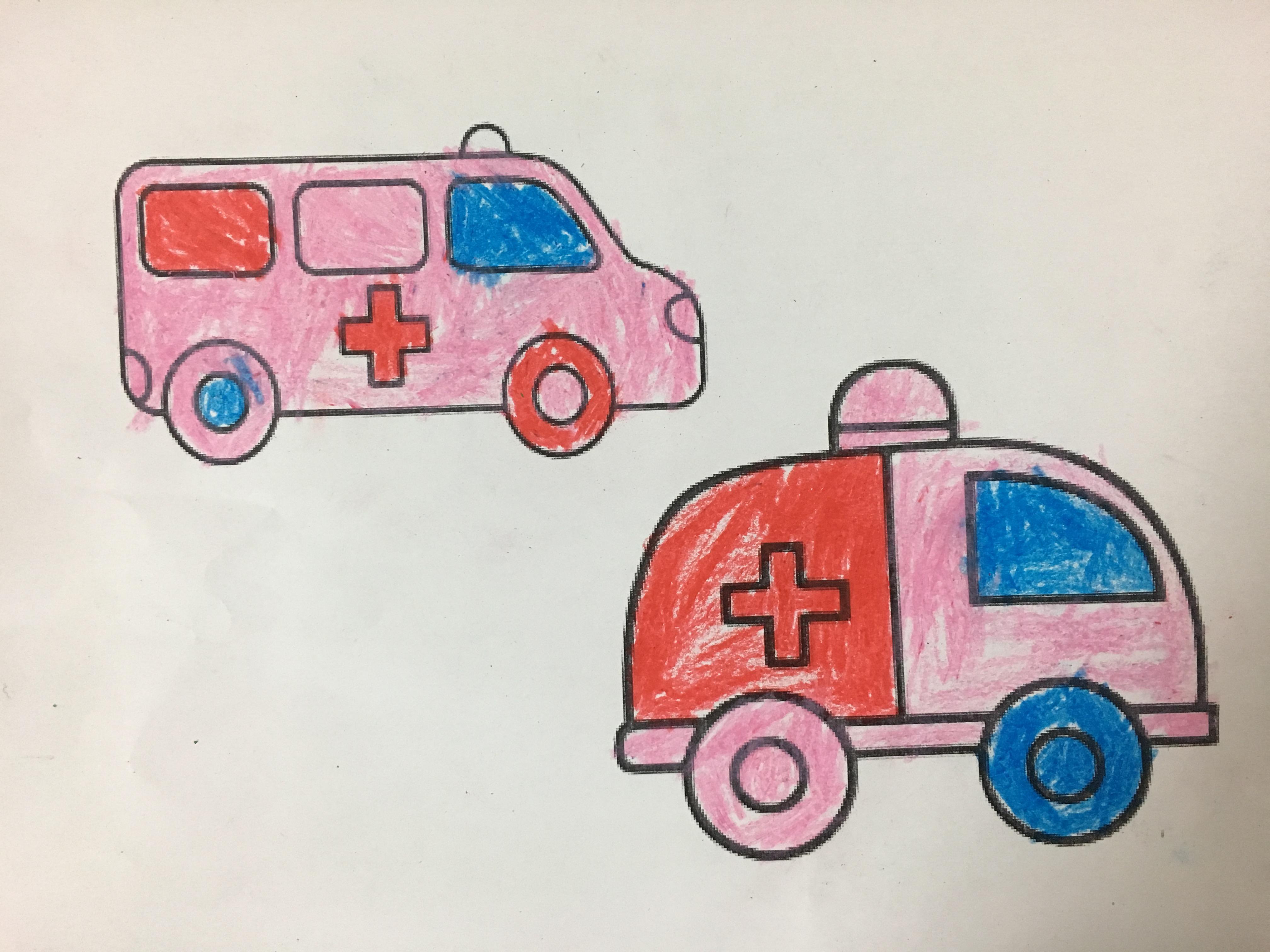 幼儿小班简笔画汽车