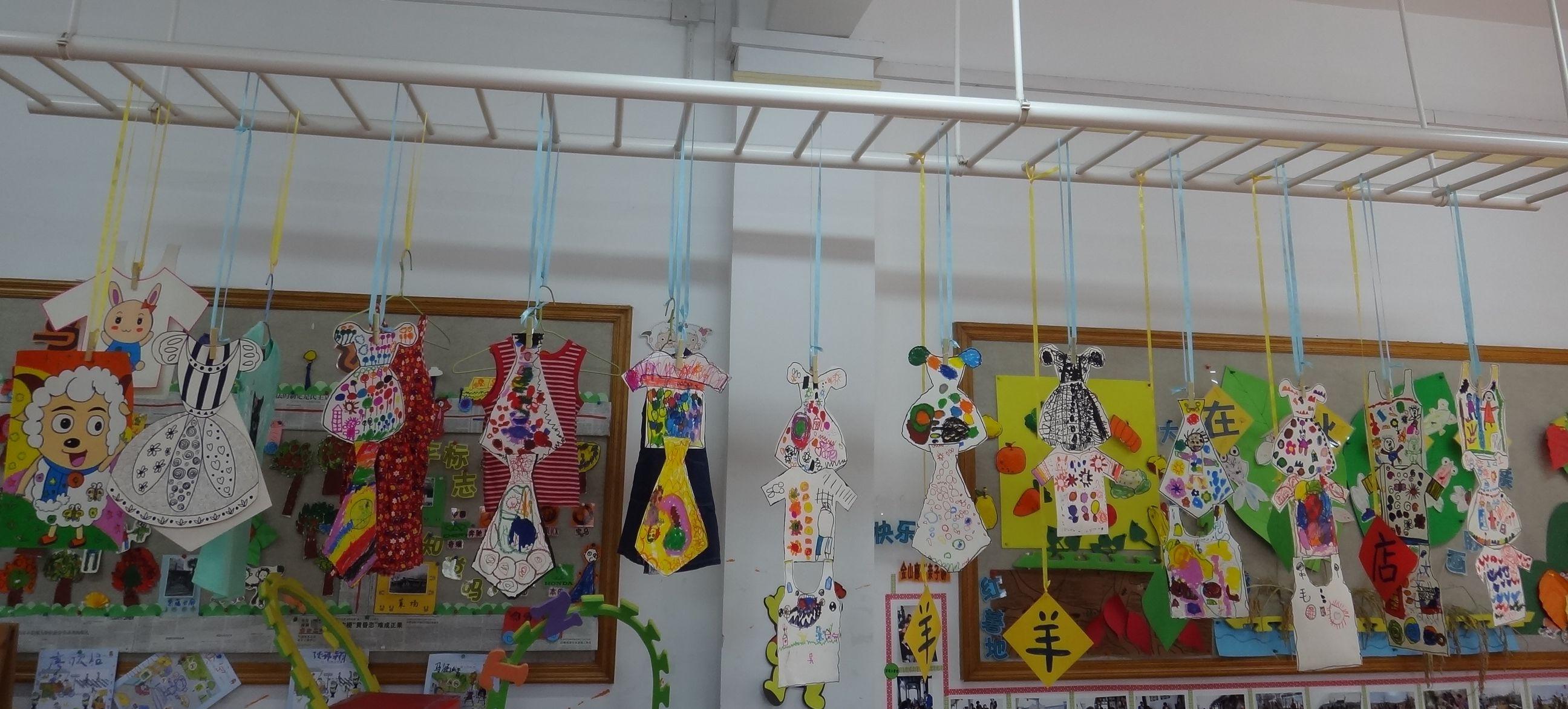 幼儿园服装主题墙图片