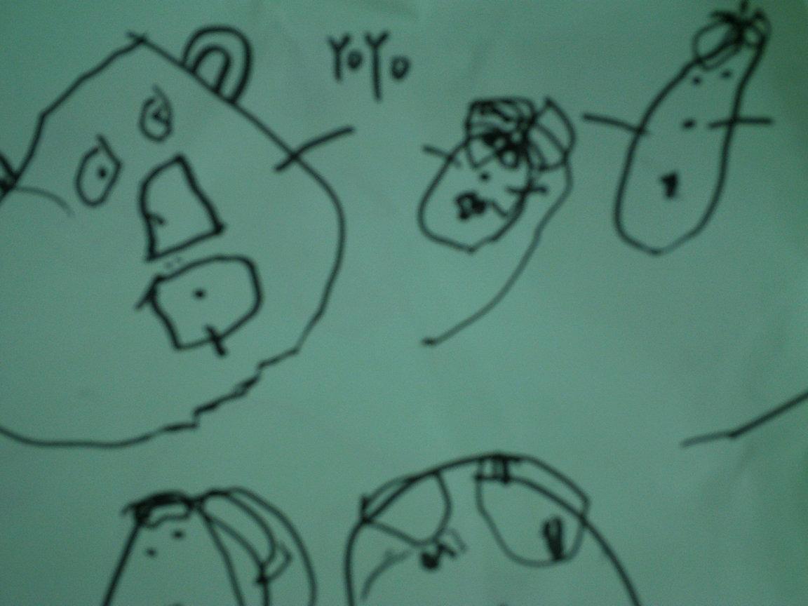 熊爸爸可爱简笔画