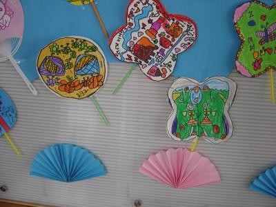 幼儿手工制作扇子图片