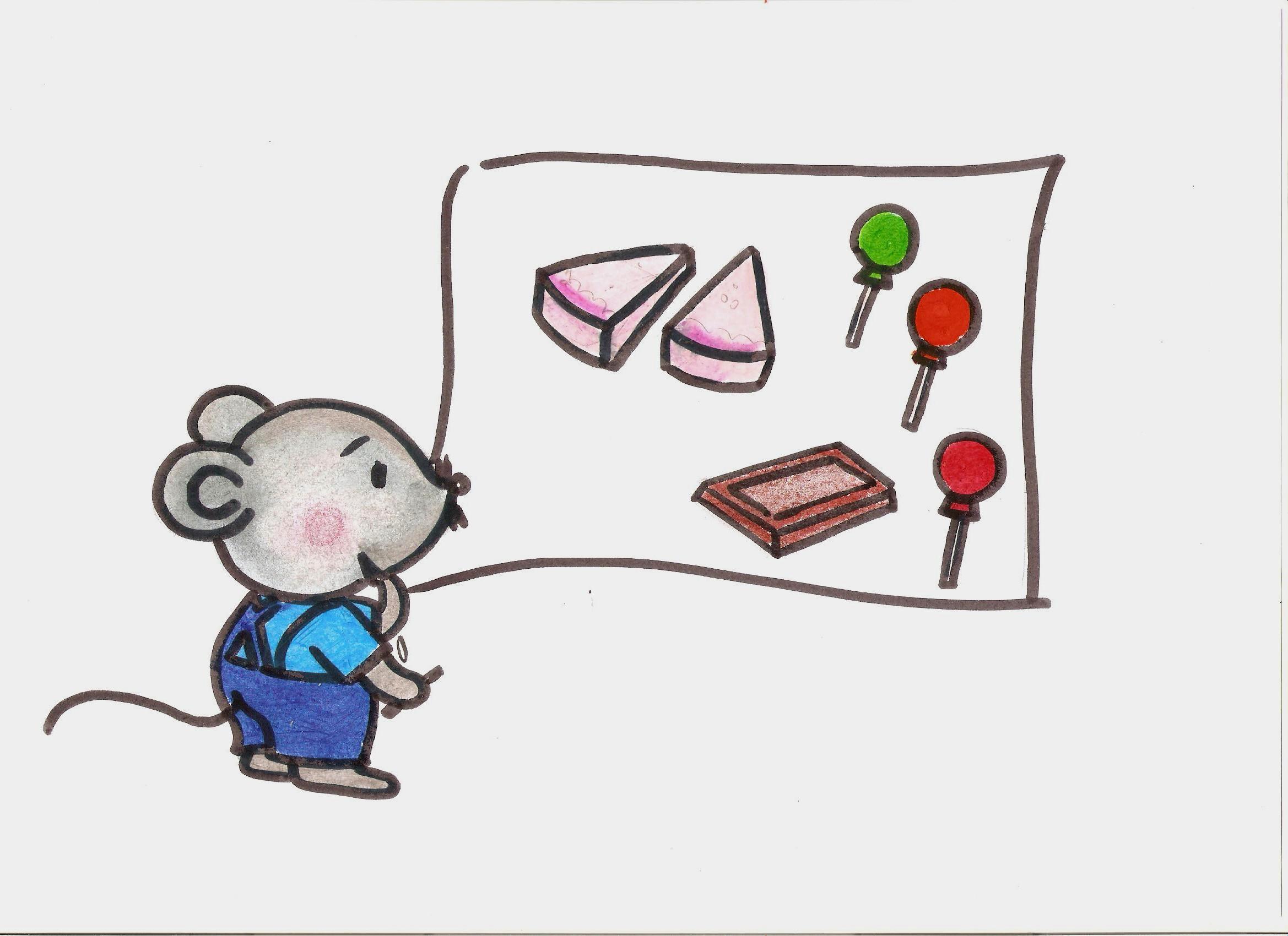 小老鼠的简笔画图片9张第6张