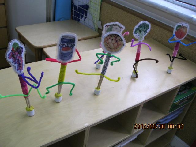 幼儿区域活动简笔画