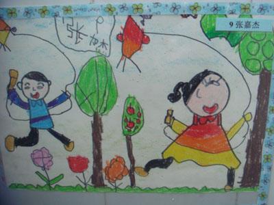 幼儿手绘风筝图片春天